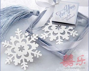 Snowflake Bookmark with Silver Finish